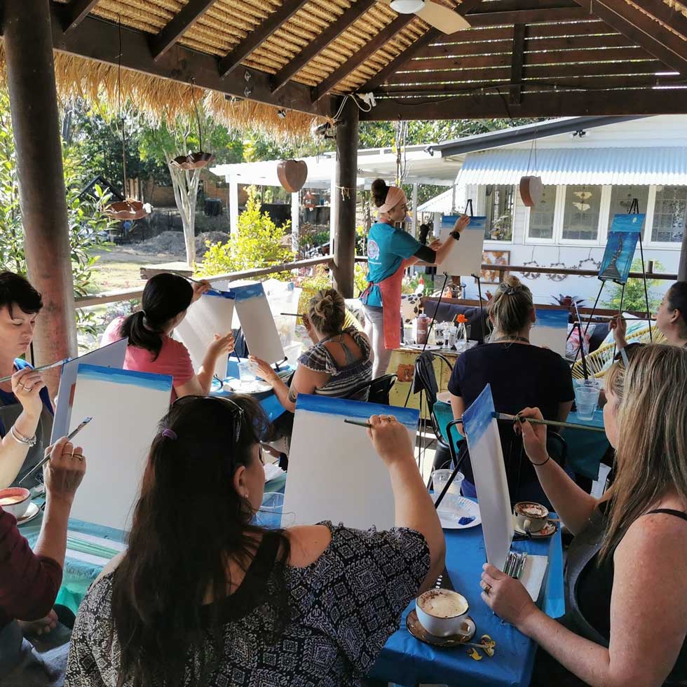 Art Class at Cafe Lagarto