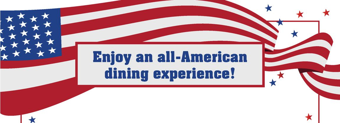 Join us for our US Inspired Dining Experience