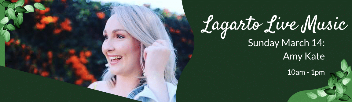 Enjoy live music at Cafe Lagarto with Amy Kate