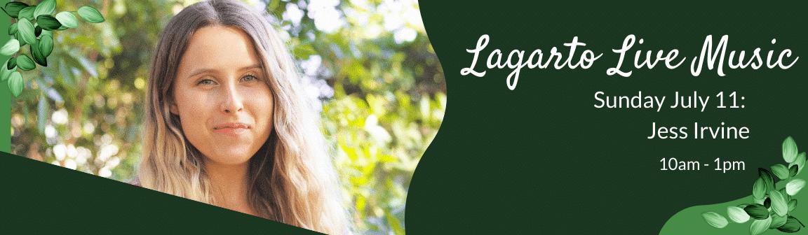 Enjoy live music at Cafe Lagarto with Jess Irvine