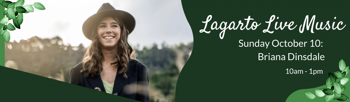 Enjoy live music at Cafe Lagarto with Briana Dinsdale